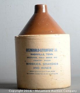 Fitzgerald-Litchford Co., Nashville, TN Whiskey Jug