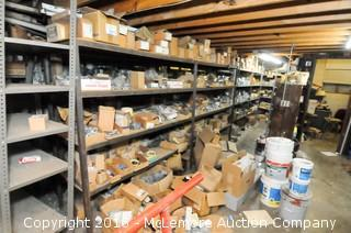 Several Rows of Shelving Units of Electrical Supplies Parts and Accessories