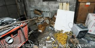Contents of Area of Warehouse Shelving in Front of Double Doors