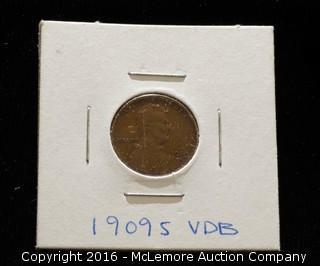 1909s VDB One Cent Piece