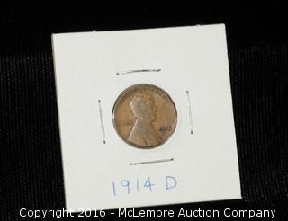 1914 D One Cent Wheat Penny