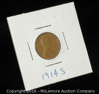 1914 S One Cent Wheat Penny