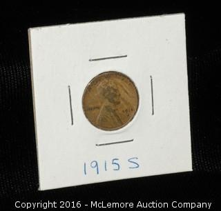 1915 S One Cent Wheat Penny