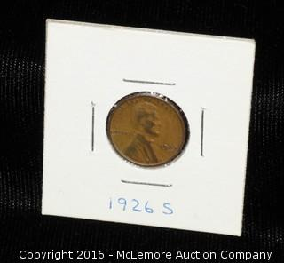 1926 S One Cent Coin