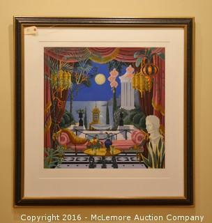 "John Kiraly Limited Edition Serigraph on Paper ""Royal Moon"""