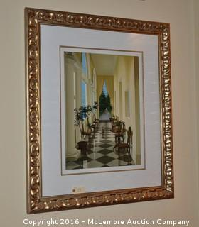 """Frederick Phillips Limited Edition Serigraph """"Colonnade"""" 43/295"""