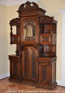 Large Hand Carved Antique Cabinet