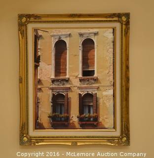 Framed Photograph on Art Board