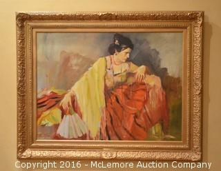 "Paul Penczner ""The Prima Ballerina"" Oil on Canvas"