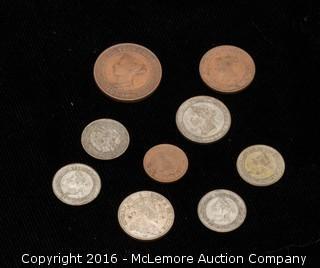 9 Assorted Coins of Ceylon of British Territories