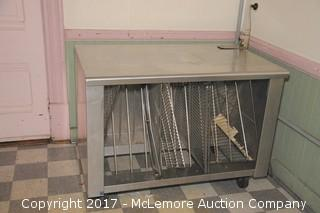 Stainless Counter Rack on Casters with Can Opener