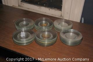 """Crate of 8"""" Glass Plates"""