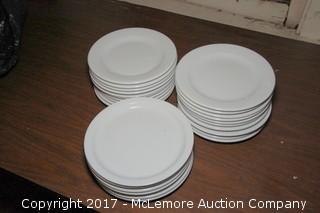 """Crate of 9"""" Ceramic Plates"""