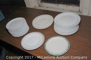 Crate of Assorted Ceramic Plates