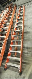 14 Foot Fiberglass Double Sided Step Ladder