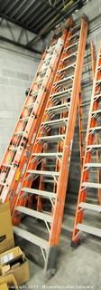 16 Foot Fiberglass Double Sided Step Ladder