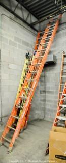 32 Foot Fiberglass Extension Ladder