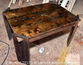 Custom Maple Table with Changing LED Lights