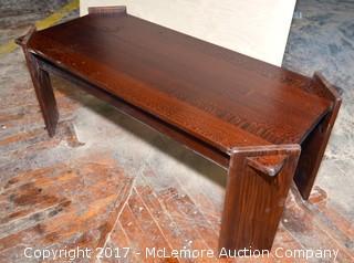 Custom Leopard Wood Table