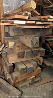 Large Collection of Hardwood Beams