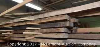 Large Stack of Pecan Lumber