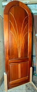 """Custom Mahogany Door with 3/16"""" Curly Maple Inlay"""