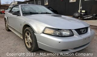 2000 Ford Mustang Convertible with 3.8L V6 OHV 12V Engine