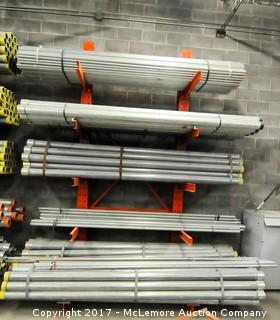Contents of Rack of Metal Pipe of Various Size