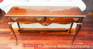 Wooden Sofa Table with 2 Drawers
