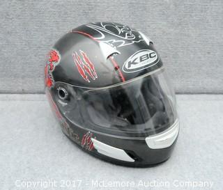 KBC Full Face Motorcycle Helmet Size Large