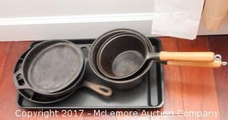 Assorted Cast Iron Pots, Skillets, Griddles and Pans