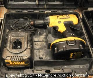 DeWalt 18V Cordless Drill with Case, Battery and Charger
