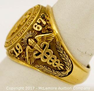 Men's 10 Karat Yellow Gold Medical School Ring
