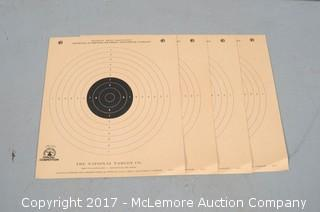 4 Vintage NRA Official Competition Paper Shooting Targets