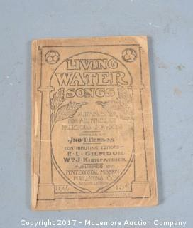 Living Water Songs by Jno T Benson