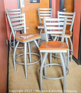 Five Stools With Swivel Seats