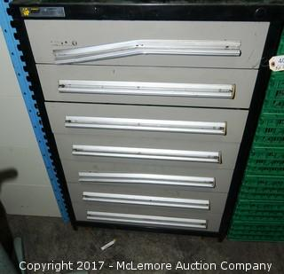 Stanley Vidmar Metal Cabinet with Contents of Assorted PVC and Metal Connectors