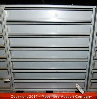 7 Drawer Metal Cabinet with Contents of Assorted Screws