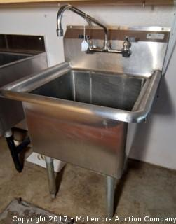 Boos Stainless Steel Compartment Sink