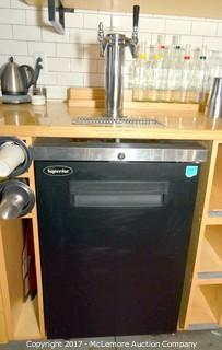 Kegerator with Double Tap Draft Tower