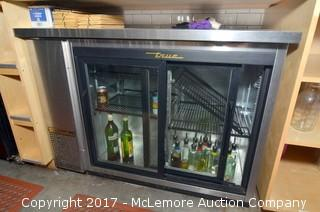 True Stainless Steel Back Bar Cooler