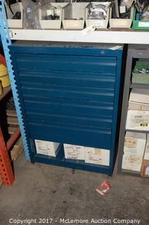 Metal Cabinet with Contents of Electrical Supplies
