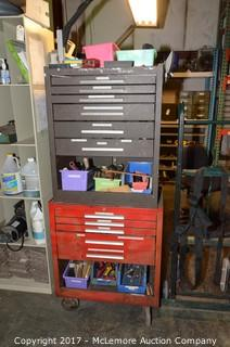2 Tool Chest with Contents of Large Assortment of Tools