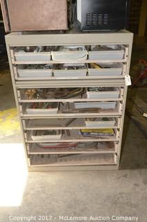 Metal Cabinet with Contents of Assorted Tools