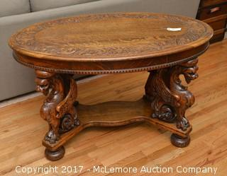 Solid Wood Tiger Eye Oak Table