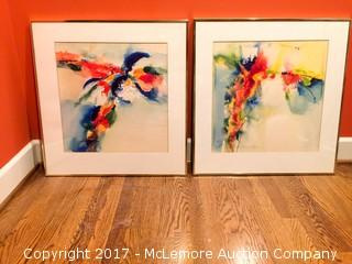 Original Artwork Gold Framed Water Color Paintings (2)