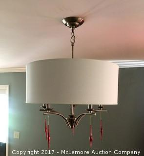 Brushed Nickel Finished Modern Chandelier