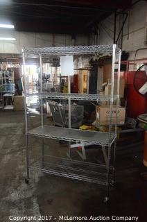 Seville Classics Inc. Rolling Metal Wire Shelving