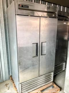True Two-Section Reach-In Freezer