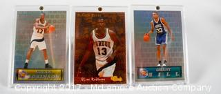 3 1994 Classic Series Basketball Cards Including Glenn Robinson And Grant Hill All Framed In Lucite
